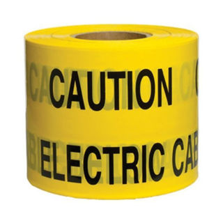 """Picture of Underground Warning Tape 150mm x 365m - """"Caution Electric Cable"""""""