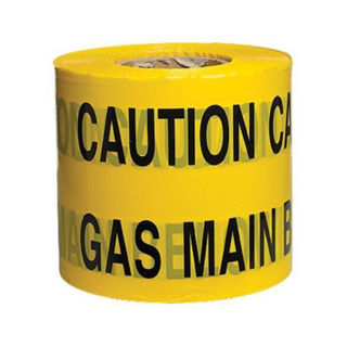 """Picture of Underground Warning Tape 150mm x 365m - """"Caution Gas Main"""""""