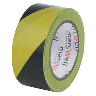Picture of Hazard Floor Marking Tape Yellow/Black 50mm x 33m