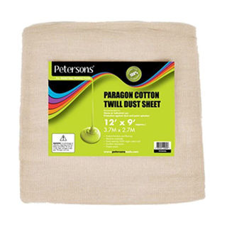 Picture of Petersons Paragon Cotton Twill Dust Sheet 12' x 9'