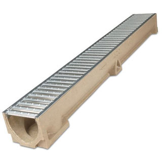 Picture of ACO Raindrain Channel with Galvanised Grating 1.0m