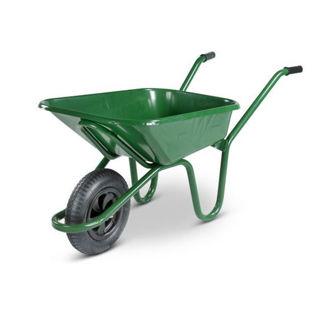 Picture of 90L Green Wheelbarrow  (Heavy Duty Steel)