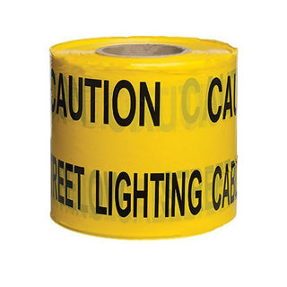 "Picture of Underground Warning Tape 150mm x 365m - ""Caution Street Light"""