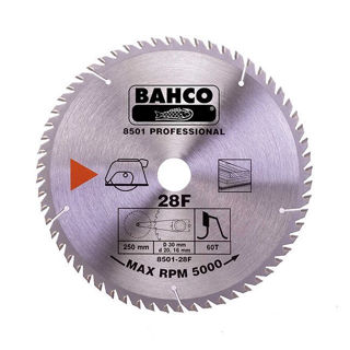 Picture of Bahco Circular Saw Blade 190mm x 30 x 40T 8501-15F-30