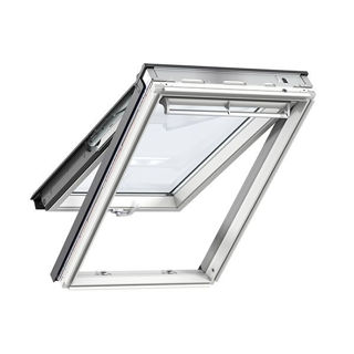 VELUX White Painted Pine Top Hung Roof Window Triple Glazed