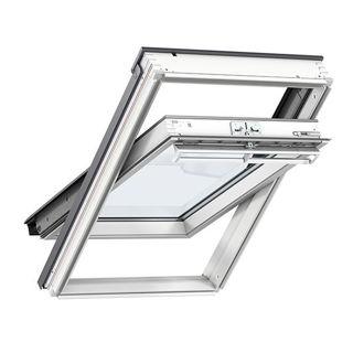 VELUX White Painted Pine Centre Pivot Triple Glazed Roof Window 2062