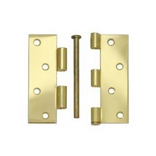 """Picture of 102mm (4"""") 1840  Loose Pin Butt Hinge - Electro Brass"""