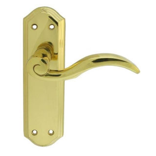 Picture of Wentworth Lever Latch Handle Set - Brass