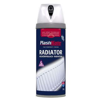 Radiator Spray Paint Enamel White Gloss