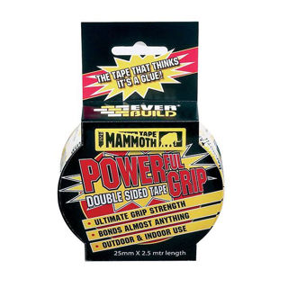 Mammoth Powergrip Tape 2.5m Murdock Builders Merchants 25mm