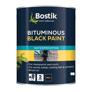 Bostik Waterproof Protective Coating Black Paint Murdock Builders Merchants