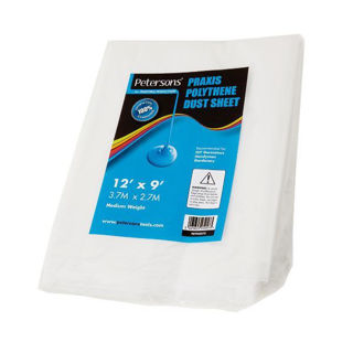 Picture of Petersons Praxis Polyethene Dust Sheet 12' x 9'
