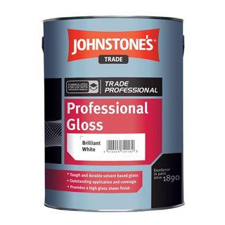 Johnstone's Trade Professional Gloss Paint Brilliant White Murdock Builders Merchants