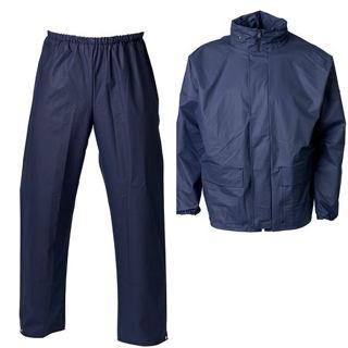 Dryzone Breathable Rainsuit Navy Murdock Builders Merchants