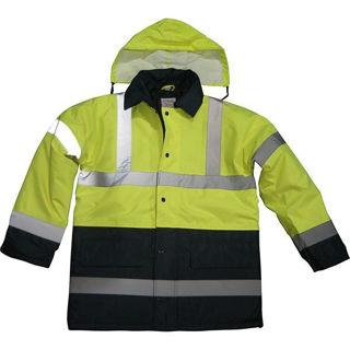 Hi Vis 2 Tone Coat Navy/Yellow Murdock Builders Merchants
