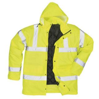 Hi Vis Parka Coat Yellow Murdock Builders Merchants