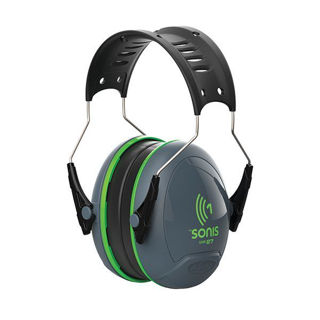 Sonis 1 Ear Defender SNR27 Green Murdock Builders Merchants
