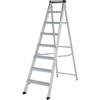 Aluminium Heavy Duty Builders Step Ladder 8 Thread