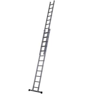 Aluminium Double Extension Ladder 3.66m - 6.27m
