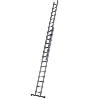 Aluminium Double Extension Ladder 4.24m - 7.43m