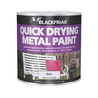 Blackfriar Quick Drying Metal Paint 500ml Black Murdock Builders Merchants