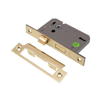"""Picture of 3 Lever Sashlock Electro Brass  63mm (2.5"""") (Pre-Packed)"""