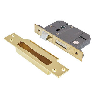 """Picture of 5 Lever Sashlock Electro Brass 63mm (2.5"""") (Pre-Packed)"""
