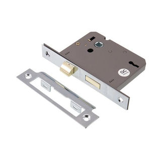 """Picture of 3 Lever Sashlock Nickel Plated 75mm (3"""") (Pre-Packed)"""