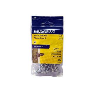Rawlplug Metal self drill Plasterboard Fixing Murdock Builders Merchants