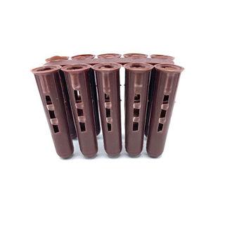 Universal Plastic Plug (Pack of 100) Brown Murdock Builders Merchants