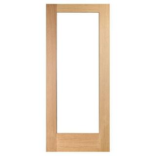 White Oak Lacquered Shaker Lite Glazed Door 40mm