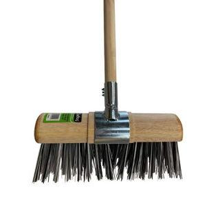 "Gardag Black & White Nylon Yard Broom 13"""