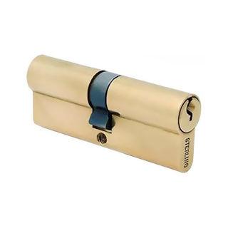 Euro Double Cylinder 35 45 - Electro Brass (Pre-packed) Murdock Builders Merchants