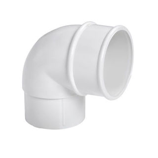 MFP Round 68mm Downpipe Bend 90 Degree