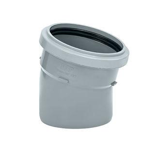 MFP 110mm Soil 15 Degree Single Socket Grey