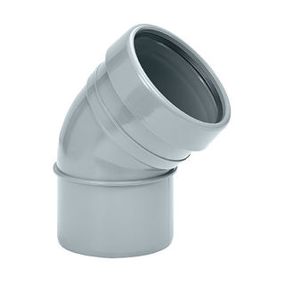 MFP 110mm Soil 45 Degree Single Socket Bend Grey