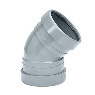 MFP 110mm Soil 45 Degree Double Socket Bend Grey