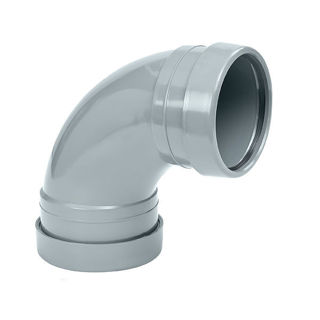 MFP 110mm Soil 87.5 Degree Double Socket Bend Grey