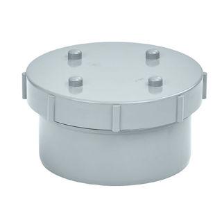 MFP 110mm Soil Access Cap and Plug Grey