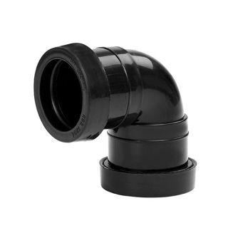 MFP 32mm 90 Degree Waste Knuckle Bend Grey