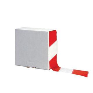 Barrier Tape Red/White 70mm x 500m Murdock Builders Merchants