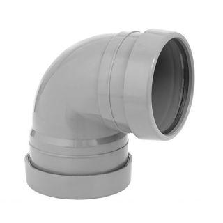 MFP 110mm Soil 87.5 Degree Double Socket Knuckle Bend Grey
