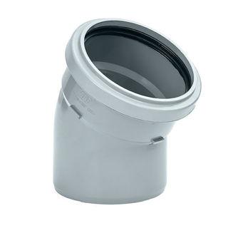 MFP 110mm Soil 30 Degree Single Socket Bend Grey